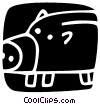 Piggy Banks Vector Clipart picture