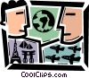 Business Travel Vector Clipart image