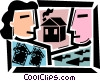 Mortgage and Loans Vector Clip Art picture