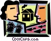 Vector Clip Art picture  of a Mortgage and Loans