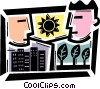 Vector Clipart graphic  of a Cityscapes