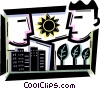 Vector Clip Art image  of a Cityscapes