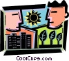 Cityscapes Vector Clip Art picture