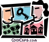 Mortgage and Loans Vector Clip Art graphic