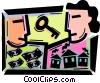 Vector Clip Art graphic  of a Mortgage and Loans