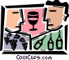 Vector Clip Art image  of a Wine