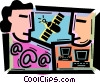 Vector Clipart graphic  of a Communication Concepts