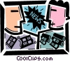 Periodicals Newspapers Magazines Vector Clip Art graphic