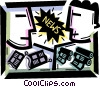 Periodicals Newspapers Magazines Vector Clipart picture