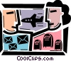Vector Clipart graphic  of an Airmail