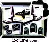 Vector Clip Art image  of an Airmail