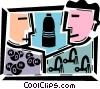 Vector Clip Art image  of a Toxic Chemicals