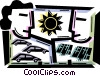 Vector Clipart image  of a Solar