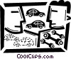 Auto Mechanics Vector Clipart graphic