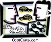 Vector Clipart graphic  of an Auto Mechanics
