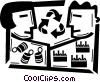 Vector Clipart illustration  of a Recycling Symbols