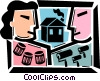 Vector Clipart image  of a Painting and Renovation