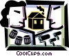 Vector Clip Art graphic  of a Painting and Renovation