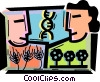 Vector Clipart illustration  of a Farmers