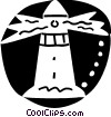 Vector Clipart illustration  of a Lighthouses
