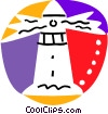 Vector Clip Art graphic  of a Lighthouses