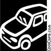 Vector Clip Art graphic  of a Family Cars