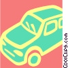 Vector Clipart image  of a Family Cars
