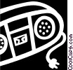 Vector Clipart image  of a Portable Cassette Players