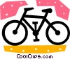 Vector Clip Art picture  of a Bicycles