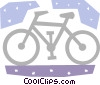 Vector Clipart graphic  of a Bicycles