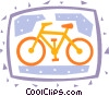 Vector Clipart picture  of a Bicycles
