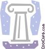 Column or Pedestal Vector Clipart graphic