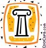 Column or Pedestal Vector Clip Art image