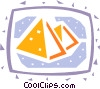 Pyramids Vector Clip Art graphic