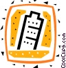Vector Clip Art graphic  of a Leaning Tower of Pisa