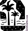 Vector Clip Art image  of a Palm