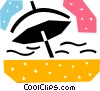 Vector Clipart graphic  of a Umbrellas