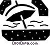 Umbrellas Vector Clipart illustration