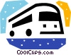 Tour Buses Vector Clipart illustration