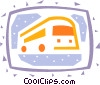 Vector Clip Art graphic  of a Tour Buses