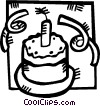 Birthday Cakes Vector Clipart graphic