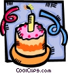 Vector Clip Art graphic  of a Birthday Cakes