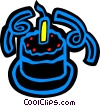 Birthday Cakes Vector Clip Art graphic