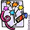 Vector Clip Art graphic  of a Fireworks and Firecrackers