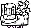 Uncle Sam's hat Vector Clip Art image