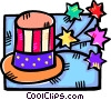 Vector Clip Art picture  of a Uncle Sam's hat