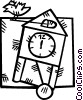 coo koo clock Vector Clipart graphic