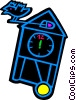 Vector Clipart graphic  of a coo koo clock