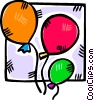 Vector Clipart picture  of a balloons