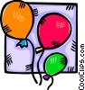 Vector Clipart illustration  of a balloons